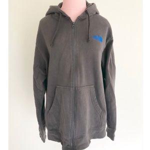North Face Full Zip Sweatshirt Gray Size L